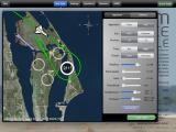 F-SIM Space Shuttle iPad New flight menu - John F. Kennedy Space Center for full approach including HAC (Heading Alignment Circle) maneuver at night