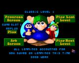 The Lemmings Chronicles Amiga Won a level.