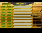 The Lemmings Chronicles Amiga Save / Load menu. (AGA)