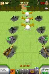 TowerMadness iPhone Flying aliens - you must place both ground and air tower protection