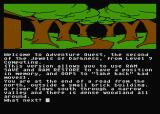 Jewels of Darkness Atari 8-bit Adventure Quest: starting location