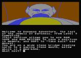 Jewels of Darkness Atari 8-bit Dungeon Adventure: starting location
