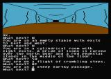 Jewels of Darkness Atari 8-bit Dungeon Adventure: steep passage