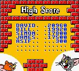 Tom & Jerry Game Boy Color Hall of fame