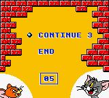 Tom & Jerry Game Boy Color Game over? Oh... not really. Do you want to play again? (Decide quickly! Time is running out!)