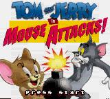 Tom and Jerry in Mouse Attacks! Game Boy Color Title screen