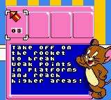 Tom and Jerry in Mouse Attacks! Game Boy Color The inventory shows you what you've collected