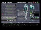P.N.03 GameCube Use points to buy suit upgrades