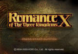 Romance of the Three Kingdoms X PlayStation 2 Title screen