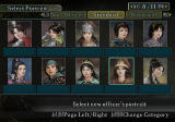 Romance of the Three Kingdoms X PlayStation 2 A few portrait options for female officers