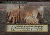 Romance of the Three Kingdoms X PlayStation 2 Intro text of a scenario