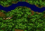 Jungle Strike Genesis Flying near a river.