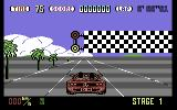 OutRun Commodore 64 Beginning a race