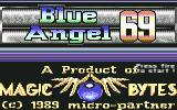 Blue Angel 69 Commodore 64 Title Screen and Copyright Information