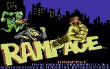Rampage Commodore 64 Title screen (Europe version)