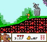 Tom & Jerry Game Boy Color My first encounter with Tom. Do you still remember the fruit? Use it to get rid of him now!