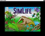 SimLife Amiga Title screen (AGA/high-res)
