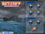 Battleship iPad Main menu - changes from clear day to stormy night after each match