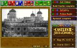 Castles II: Siege & Conquest DOS CD Rom Version: A castle is completed.