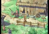 SaGa Frontier 2 PlayStation Ginny Knights in front of a shack