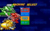 Cyberbots: Full Metal Madness SEGA Saturn Mech selection