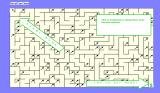Mazemaker Windows 3.x This is the first screen of the maze. It shows the start and the end points.