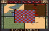 Dino Wars DOS Select the board / environment to play on.