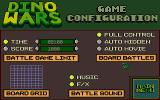 Dino Wars DOS Game configuration screen