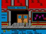 The Simpsons: Bart vs. the Space Mutants SEGA Master System Bart in front of move theatre