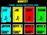 Quartet ZX Spectrum Choose your player