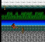 Frankenstein: The Monster Returns NES Attacking a monster by the lakeside