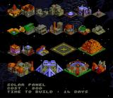 Utopia: The Creation of a Nation SNES The different kinds of buildings