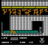 Werewolf: The Last Warrior NES Crawling in narrow space