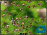 The Settlers II: Veni, Vidi, Vici DOS A screenshot (hi-res back then) that illustrates what this game is all about: infrastructure. Note donkeys increasing transport efficiency.