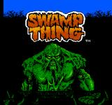 Swamp Thing NES Title Screen