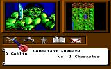 Tangled Tales DOS Fight against a Goblin