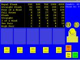 Masque Video Poker Windows 3.x This is the start of a typical game. At this point no bets have been made and no cards have been dealt.