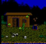 Swamp Thing NES Crazy Voodoo Headhunter Cannibals... or something like that