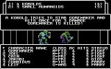 Wizardry: Proving Grounds of the Mad Overlord Commodore 64 The Fighter Goremaker is killed!