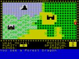 Black Crystal ZX Spectrum The player starts in the yellow square on the right. Having moved just one square a fearsome beast is encountered...