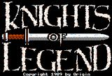 Knights of Legend Apple II Title screen