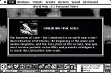 SimEarth: The Living Planet Macintosh Beginn of the evolution time scale (monochrome)