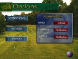 PGA European Tour DOS The top left golf club like icon gives the player access to customise the playing conditions