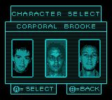 Aliens: Thanatos Encounter Game Boy Color Pick a character