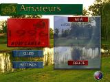 PGA European Tour DOS The player icon on the lower left allows the creation of a new player. MOBYGAMER is the maximum number of letters allowed.