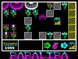Babaliba ZX Spectrum The game starts here.  There's no way out except past the monster