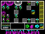 Babaliba ZX Spectrum On the restart the monster is safely out of the way