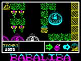 Babaliba ZX Spectrum Following any path off the edge of the screen takes the player to a new game area