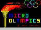 Micro Olympics ZX Spectrum This pretty screen displays while the game loads