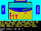 The Thompson Twins Adventure ZX Spectrum After displaying the title and the developer credits the game starts with this screen